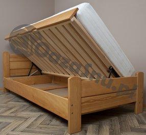 łóżka Drewniane Otwierane Z Pojemnikiem Na Pościel 80x200