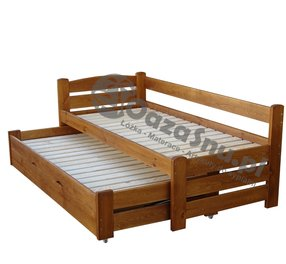 Tapczany Drewniane łóżka Z Pojemnikiem Na Pościel Producent