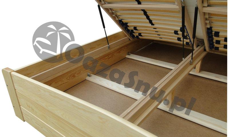 łóżka Drewniane Otwierane Z Pojemnikiem Na Pościel 80x200 Oazasnupl