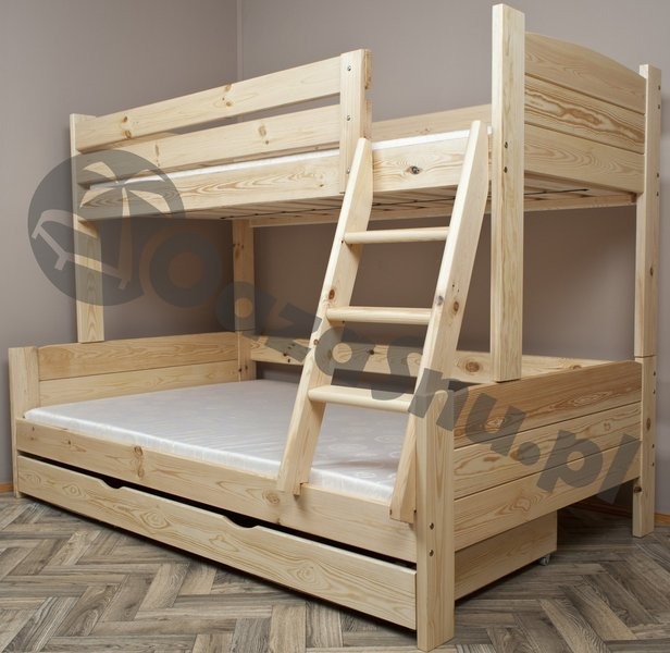 łóżka Piętrowe Dla 3 Dzieci Szersze Dolne łóżko Producent