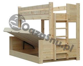 łóżka Piętrowe Szerokie Dolne łóżko 120x200 Producent Woj